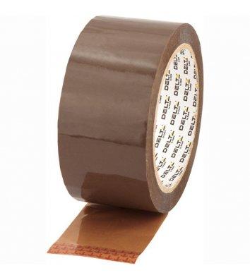 Скотч 48мм*100ярд упаковочный коричневый, Delta