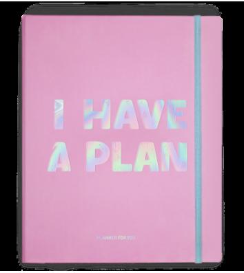 """Планер з наліпками """"I have a plan"""" рожевий, Orner"""