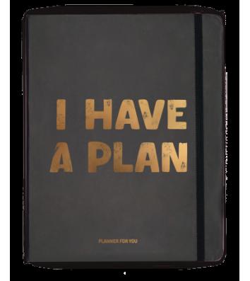 """Планер з наліпками """"I have a plan"""" чорний, Orner"""