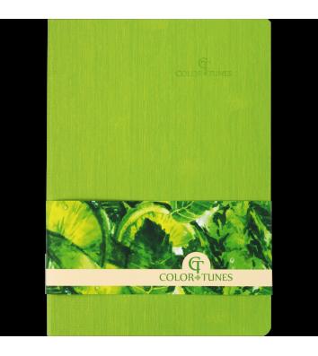 Деловой блокнот А5 96л линия Color Tunes салатовый, Buromax