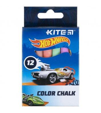 "Крейда кольорова 12шт ""Hot Wheels"", Kite"