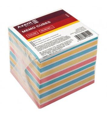 Бумага для заметок 90*90мм 800арк, цветная непроклеенная, Axent