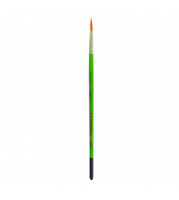Кисточка №6 синтетика (нейлон) кргулий
