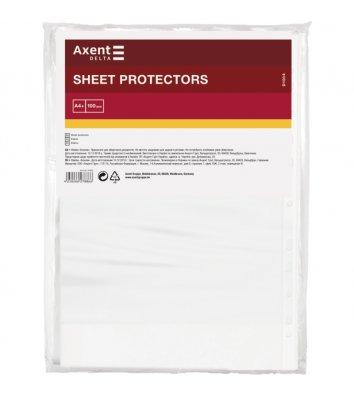 Файли А4+ 40мкм 100шт глянцеві, Axent