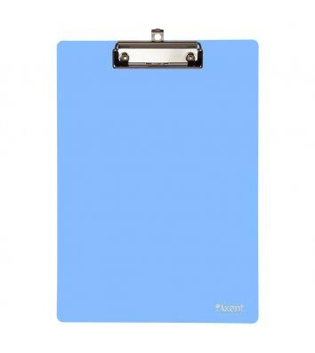 Планшет А4 с прижимом пластиковый голубой, Axent