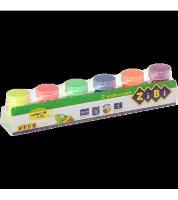 """Фарба гуашева  6 кольорів 20мл """"Neon Kids Line"""", Zibi"""