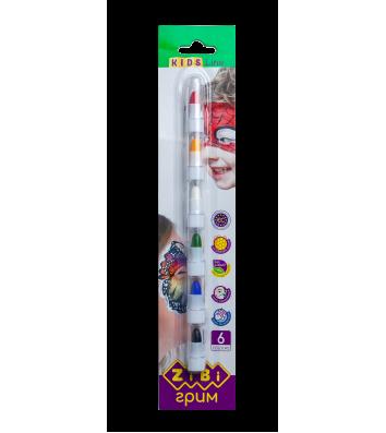 Фарби для обличчя  6 кольорів, Zibi
