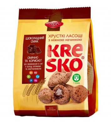 """Печиво """"Kresko"""" з шоколадною начинкою 74г, АВК"""
