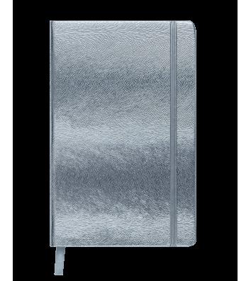 Діловий записник клітинка А6 Ingot сріблястий, Buromax