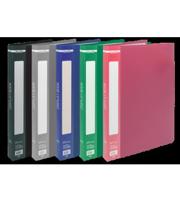 Папка А5 пластиковая с 20 файлами ассорти Jobmax, Buromax