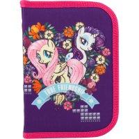 Пенал твердый 1 отделение с отворотом на молнии Little Pony, Kite