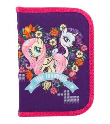 Пенал твердий 1 відділення з відворотом на блискавці Little Pony, Kite