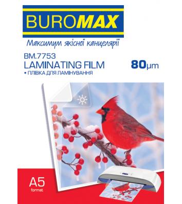 Плівка для ламінування А5  80мкм 100шт глянцева, Buromax