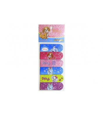 Закладки магнитные для книг 6шт для девочек принты - ассорти