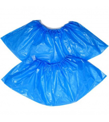 Бахіли поліетиленові блакитні 100шт/уп, BuroClean