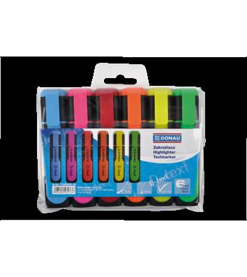 Набір текстових маркерів D-Text 6 кольорів, Donau