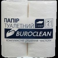 Туалетная бумага двухслойная 4рул/уп Buroclean целлюлозный, белая