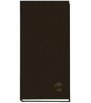 Телефонная книга 100*190мм 80л черная, Поліграфіст