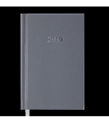 Ежедневник датированный A6 2019 Strong серый, Buromax