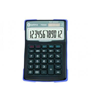 Калькулятор 12 розрядів 156*103*38мм, Optima