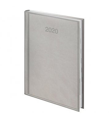 Ежедневник датированный А5 2020 Torino серый, Brunnen