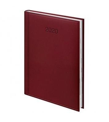 Ежедневник датированный А5 2020 Torino темно-красный, Brunnen