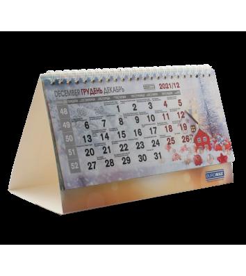 """Календарь настольный перекидной 210*100мм на 2021г """"Romantic"""", Buromax"""