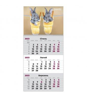 """Календар настінний квартальний на 2020р (3 пружини) """"Узбережжя"""""""