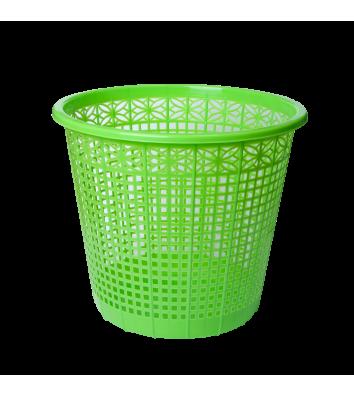 Корзина для сміття пластикова салатова 8л, Zibi