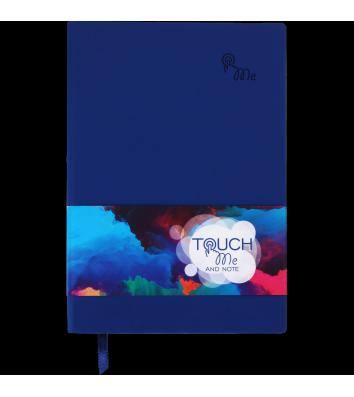 Деловой блокнот в линию А5 Touch Me синий, Buromax