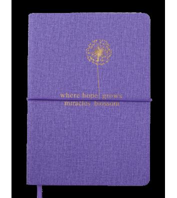 Деловой блокнот A5 96л линия Nice фиолетовый, Buromax