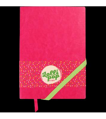 Діловий записник нелінований А5 Lollipop рожевий, Buromax