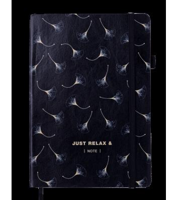 Діловий записник нелінований А5 Relax чорний, Buromax
