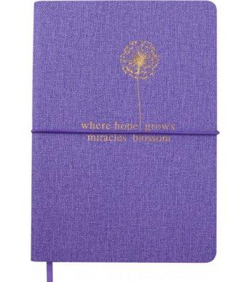 Діловий записник A5 96арк нелінований Nice фіолетовий, Buromax