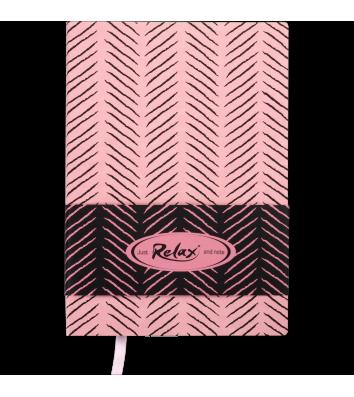 Діловий записник нелінований А5 Relax рожевий, Buromax