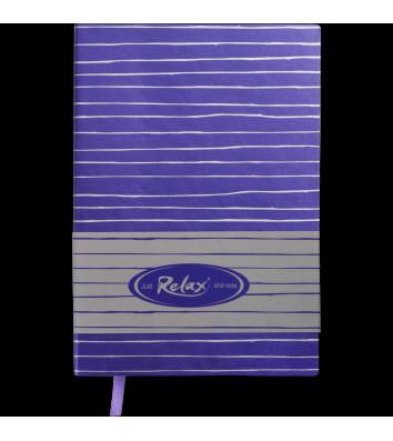 Діловий записник нелінований А5 Relax фіолетовий, Buromax