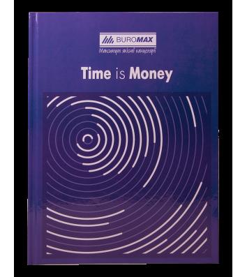 Книга канцелярская A4 96л клетка твердый переплет Time is money, Buromax