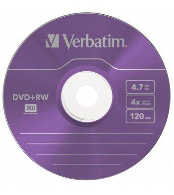 Диск DVD+RW 4.7Gb 4x, Silver, Verbatim