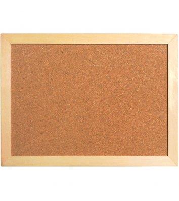 Дошка коркова  45*60см, дерев'яна рамка, Axent