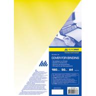 Обложка для переплета А4 180мкм 50шт пластиковая прозрачная желтая, Buromax