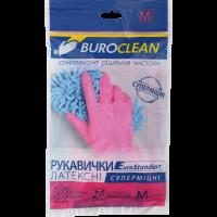 Перчатки хозяйственные суперпрочные M, Buroclean