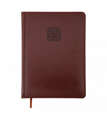 Щоденник датований A5 2022 Bravo (Soft) коричневий, Buromax