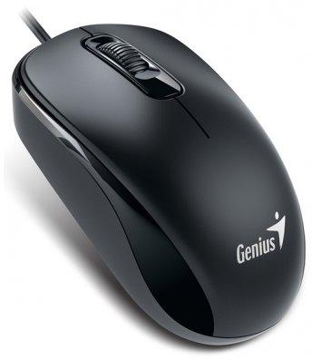 Миша комп'ютерна дротова чорна, Genius DX-110 USB
