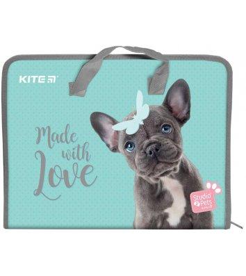 Портфель А4 пластиковий на блискавці 1 відділення Studio Pets, Kite
