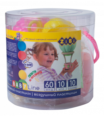 Пластилін повітряний 10 кольорів асорті , Zibi