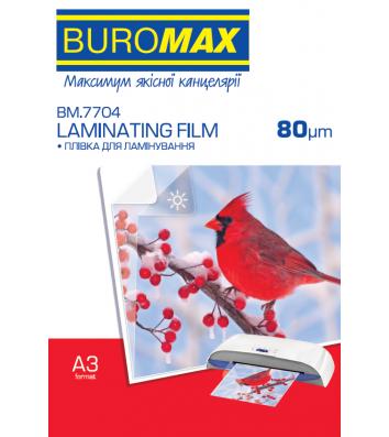 Плівка для ламінування А3  80мкм 100шт глянцева, Buromax