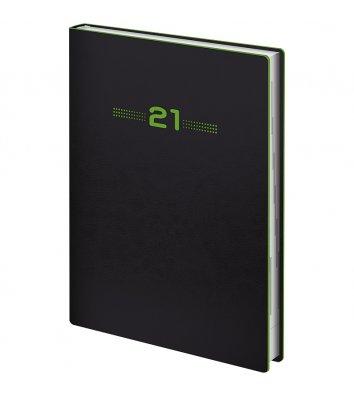 Щоденник датований A5 2020 Flex Neo чорний, Brunnen