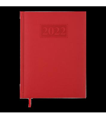 Щоденник датований A5 2022 Gentle (Torino) червоний, Buromax