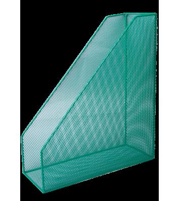 Лоток вертикальний металевий зелений, Buromax
