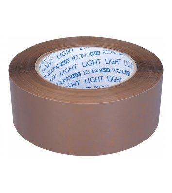 Стрічка клейка 48мм*200ярд пакувальна коричнева, Economix